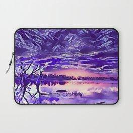 Cloudy Morning Sunrise on the Lake Laptop Sleeve