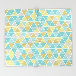 Triangulation (blue and green) Throw Blanket