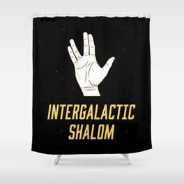 Intergalactic Shalom Shower Curtain
