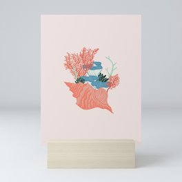 Coral Sea bouquet Mini Art Print
