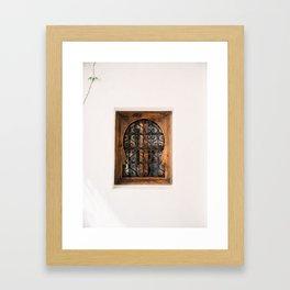 Arabic Moroccan window in Cordoba Spain   Fine art photography print Framed Art Print