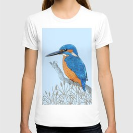 Kingfisher in reeds T-shirt
