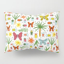 bright bugs butterflies and blooms Pillow Sham