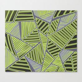 Florida Leaves Pattern Canvas Print