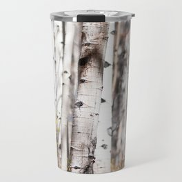 Aspen Trees In Autumn Travel Mug