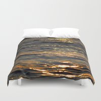 sparkle Duvet Covers featuring Sparkle by L Shannon Designs