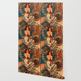 "Alphonse Mucha ""Monaco Monte Carlo"" Wallpaper"