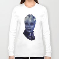mass effect Long Sleeve T-shirts featuring Mass Effect: Liara T'soni by Ruthie Hammerschlag