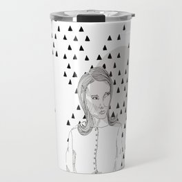 the skeptical lady Travel Mug