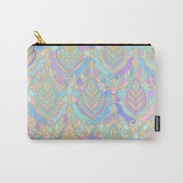 Jade & Blue Enamel Art Deco Pattern Carry-All Pouch