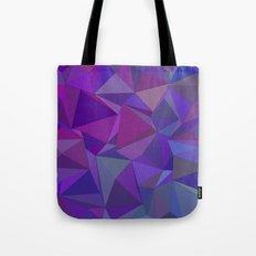 Chaotic purple tiles Tote Bag