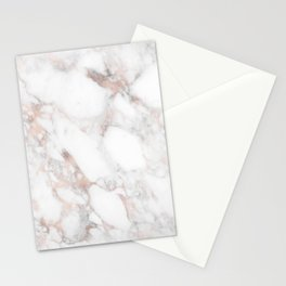 Rose Gold Marble Blush Pink Metallic Foil Stationery Cards