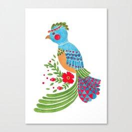 The Blue Quetzal Canvas Print