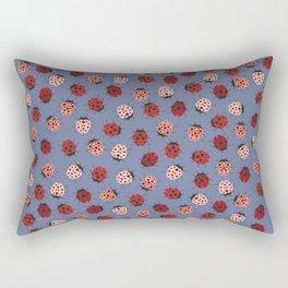 All over Modern Ladybug on Plum Background Rectangular Pillow