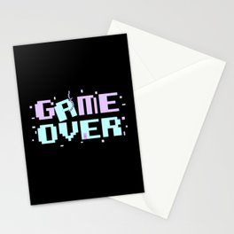 Game Over Yami Kawaii Pastel Goth Aesthetic Anime Gift Stationery Cards