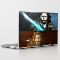 thorin Laptop & iPad Skins featuring Thorin & Fili by wolfanita