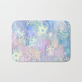 Eden Floral Pastel Blue Bath Mat