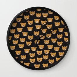 teddy bear pattern Wall Clock
