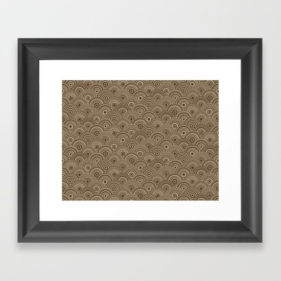 Orbis (Brown) Framed Art Print