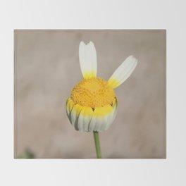 Hippie flower making peace sign Throw Blanket