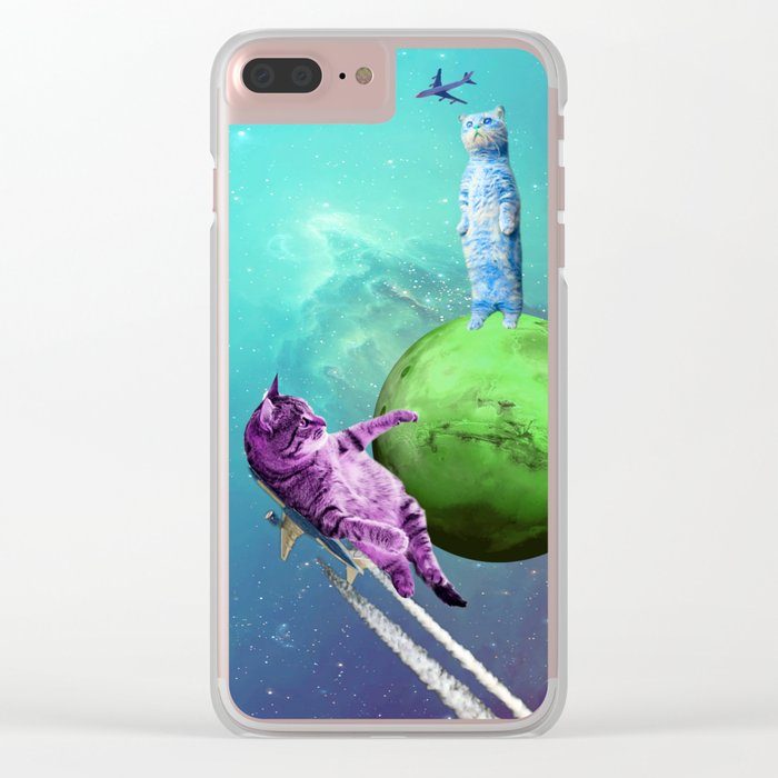 Cats Playing Clear iPhone Case