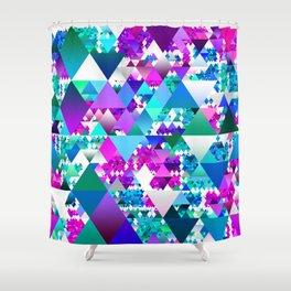 Jewel Tone Triangles Shower Curtain