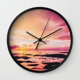 Maldivian sunset 4 Wall Clock