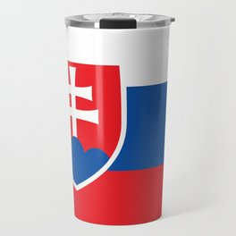 Slovakian Flag - High Quality Image Travel Mug