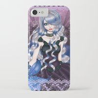 valentina iPhone & iPod Cases featuring Blue Valentina by Valentina Marinaccio