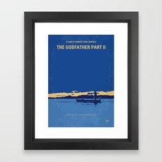 No686-2 My Godfather II minimal movie poster Framed Art Print