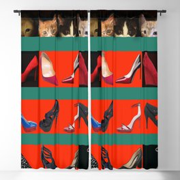 Kittens for May in May Blackout Curtain