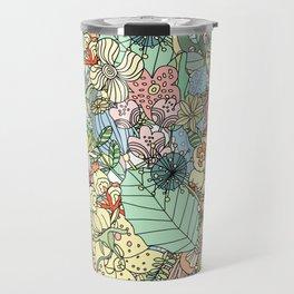 Nature Bloom Pattern Travel Mug