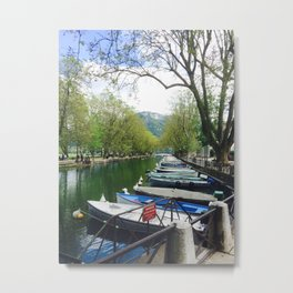 Annecy Canal Metal Print