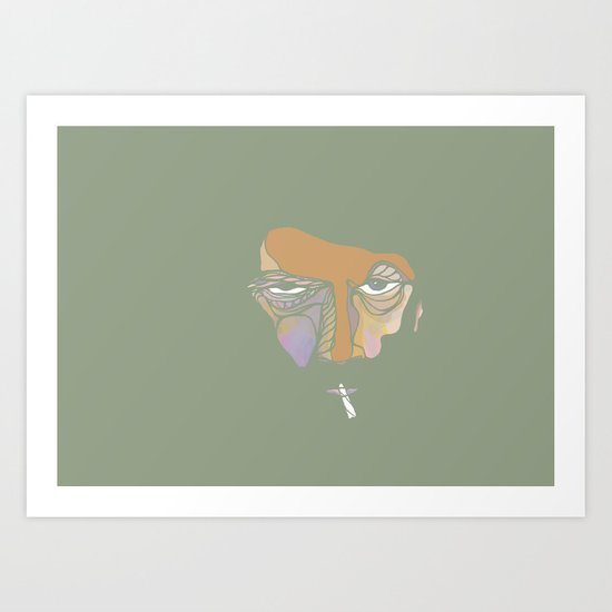 What the fuck are you talking about? Art Print