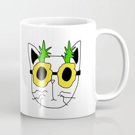 Cat Pineapple Sunglasses Coffee Mug