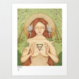 Element of Earth - pagan goddess art Art Print