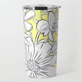 Flower Meadow Yellow Travel Mug