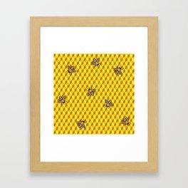 Bee Gold Framed Art Print