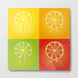 Summer Citrus Metal Print
