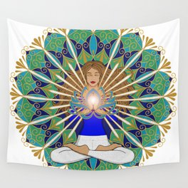 Divine Spark Mandala Wall Tapestry