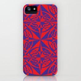 Think Tiled - Purple Red iPhone Case