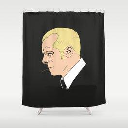 Simon Pegg - Hot Fuzz. Shower Curtain