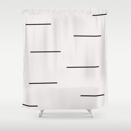 Mudcloth white black dashes Shower Curtain