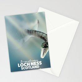 Loch Ness Scotland monster vintage travel poster Stationery Cards