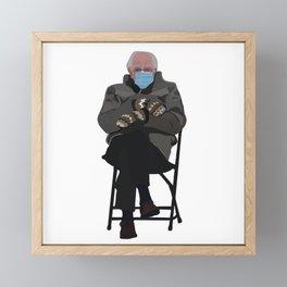 Bernie at Inauguration Framed Mini Art Print