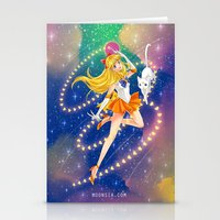 sailor venus Stationery Cards featuring Sailor Venus  by Moonsia