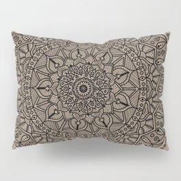 Circle of Life Mandala Brown Pillow Sham