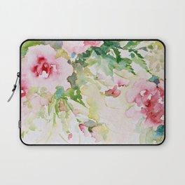 Cascading Flowers -Landscape- Watercolors Laptop Sleeve