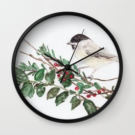 Black-capped Chickadee Wall Clock