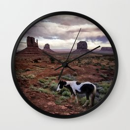 Horse in the Valley Wall Clock